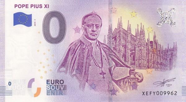 0 Euro Schein Papst Pius XI.