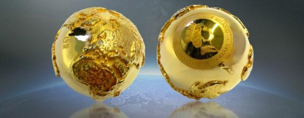 3D Globus mit Diamanten