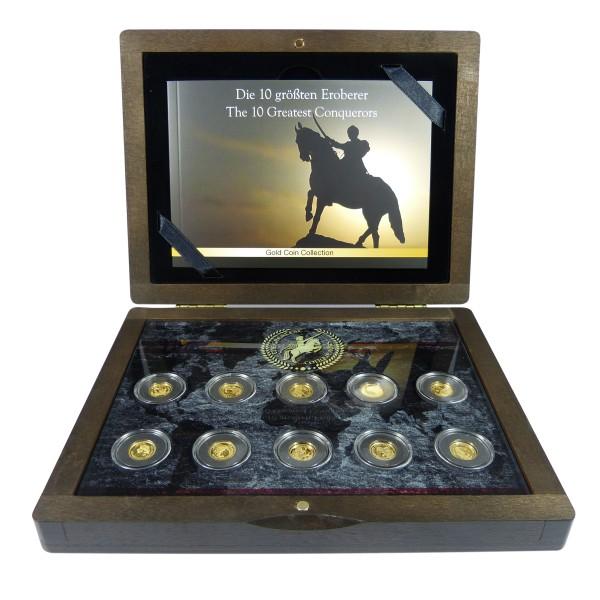 Die größten Eroberer - Goldmünzen Etui