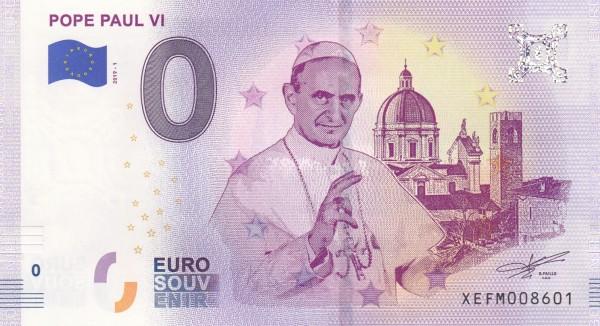 0 Euro Schein Papst Paul VI