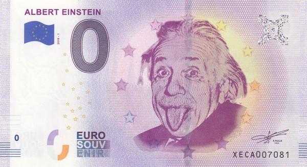 0 Euro Schein Albert Einstein
