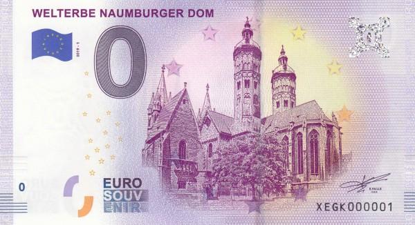 0 Euro Schein Welterbe Naumburger Dom