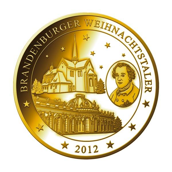 Brandenburger Weihnachtstaler 2012 Feingold