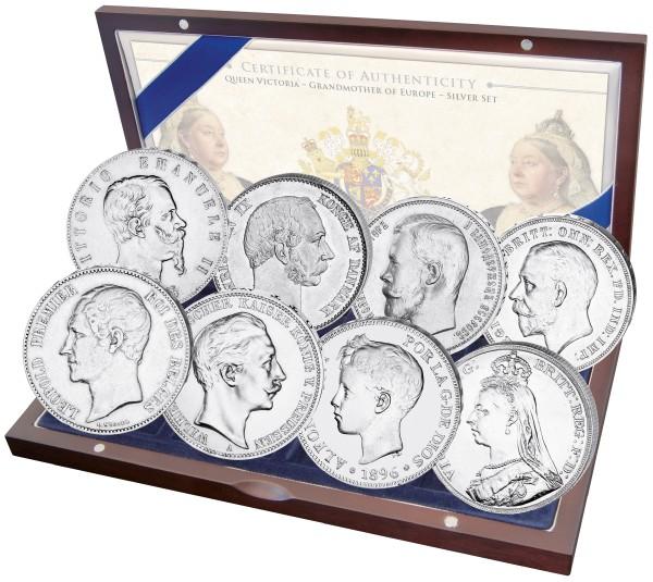Victoria Großmutter von Europa - Historisches Silbermünzset