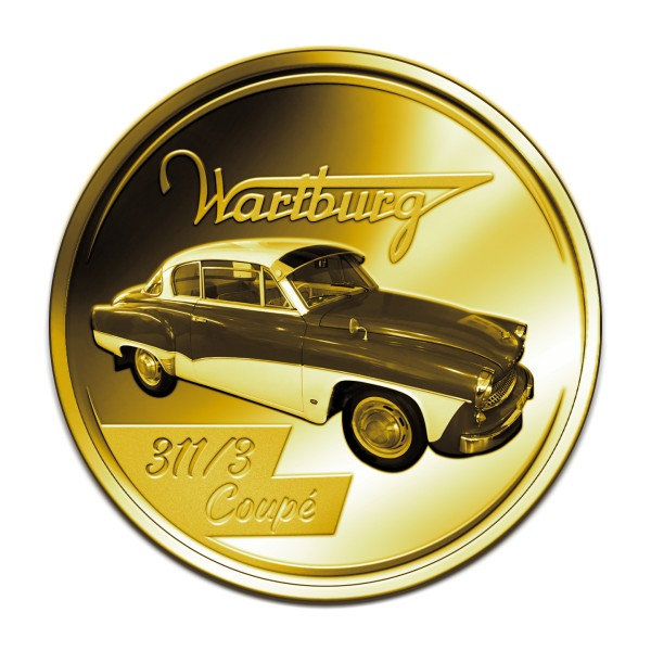 Wartburg Coupé 311/3 24 Karat vergoldet