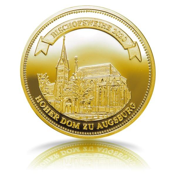 Bischofsweihe 2020 in Augsburg - Sonderprägung Feingold
