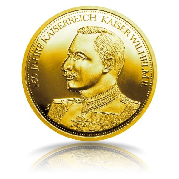 150 Jahre Deutsches Kaiserreich - Sonderprägung Feingold