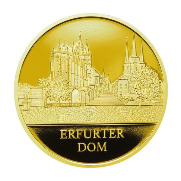 100 Jahre Thüringen - Erfurter Dom - Feingold