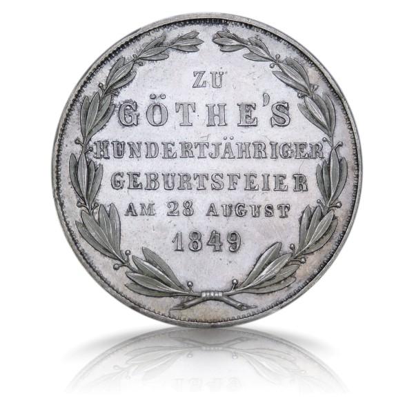 Doppelgulden Goethes 100. Geburtstag Frankfurt 1849