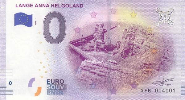 0-Euro Schein Lange Anna Helgoland