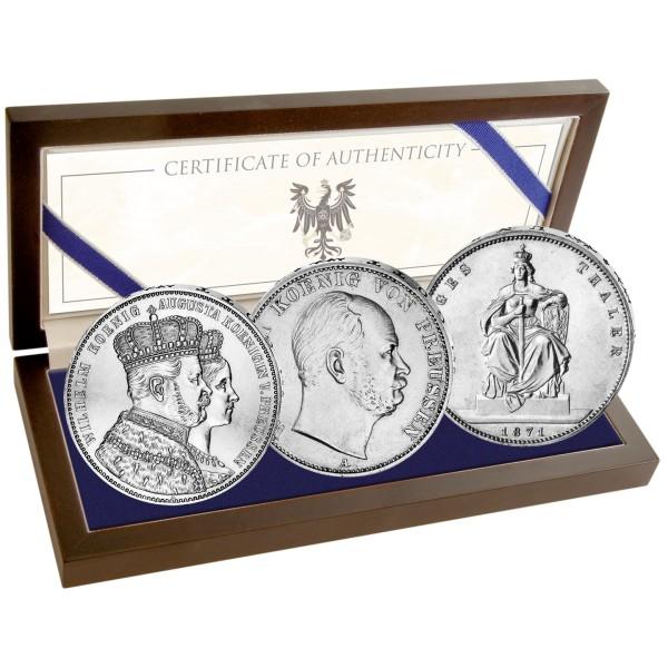 150 Jahre Gründung des Deutschen Kaiserreichs - Wilhelm I. Silbermünzen