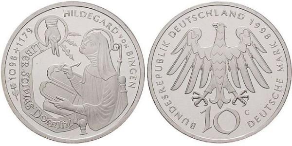 10 D-Mark Gedenkmünze Hildegard von Bingen
