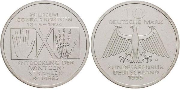 10 D-Mark Gedenkmünze Wilhelm Conrad Röntgen