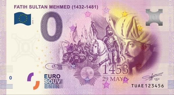 0 Euro Schein Sultan Fatih Mehmed - Istanbul