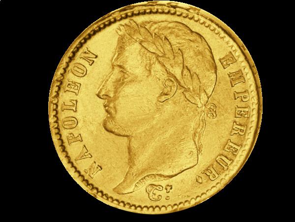 """20 Französischen Franc """"Napoleon I. mit Kranz"""""""