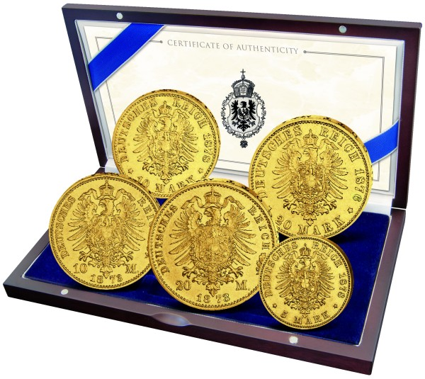 Historische Goldmünzen zum 175. Geburtstag von König Ludwig II.