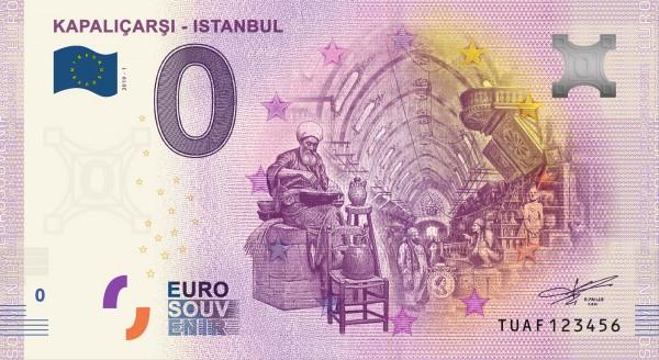 0 Euro Schein Kapalicarsi (Grand Bazar) - Istanbul