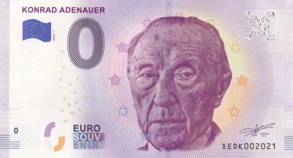 0 Euro Schein Konrad Adenauer