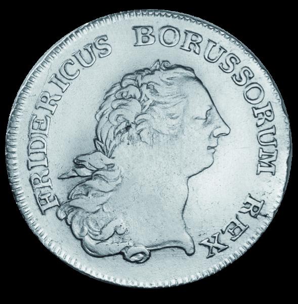 """1/2 Taler """"König Friedrich II. der Große"""" Vorderseite"""