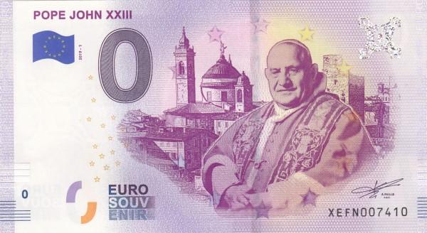 0 Euro Schein Papst Johannes XXIII.