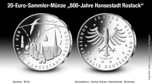 20 Euro 800 Jahre Rostock