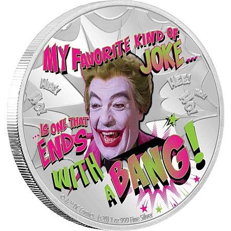 Joker Münze - Eine offizielle DC Prägung
