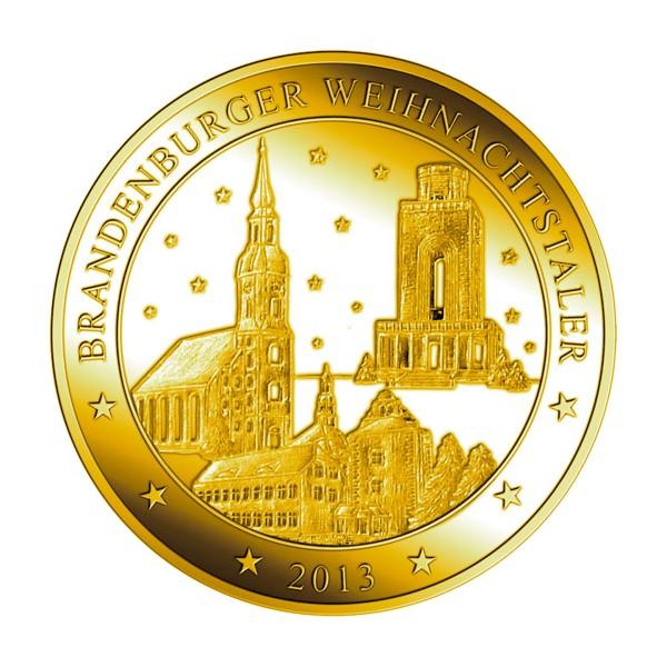 Brandenburger Weihnachtstaler 2013 Feingold
