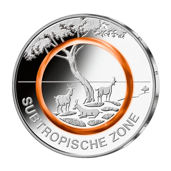 5 Euro Münze - Subtropische Zone