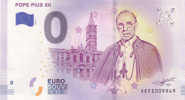 0 Euro Schein Papst Pius XII.