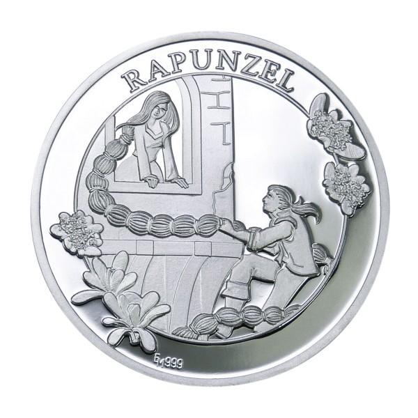 Rapunzel Märchentaler Sonderprägung Feinsilber