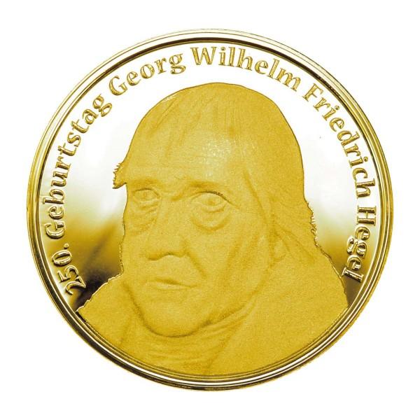 250. Geburtstag Georg Friedrich Wilhelm Hegel Gedenkprägung