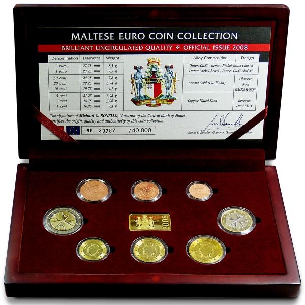 Kursmünzen Malta 2008
