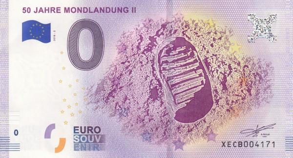 0 Euro Schein 50 Jahre Mondlandung II