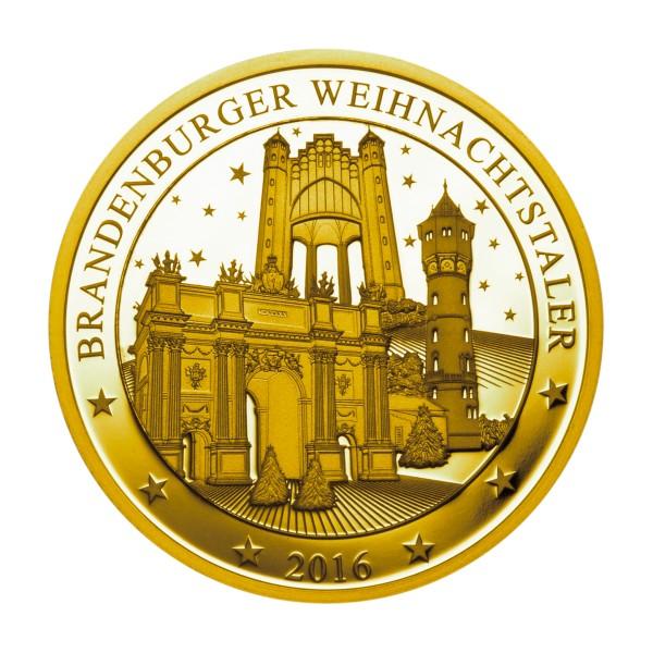 Brandenburger Weihnachtstaler 2016 Feingold
