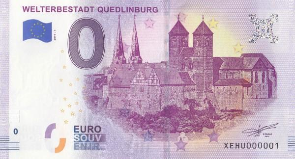 0 Euro Schein Welterbestadt Quedlinburg