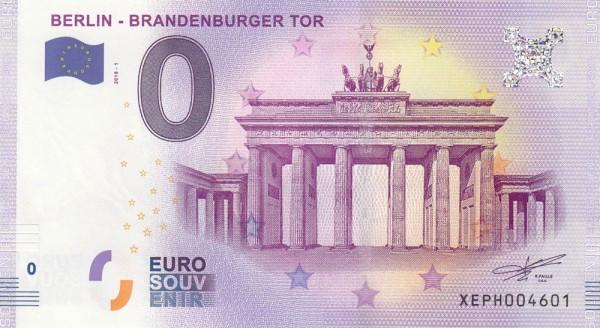 0 Euro Schein Brandenburger Tor