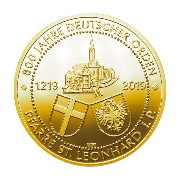 800 Jahre Deutscher Orden St. Leonard Sonderprägung Feingold