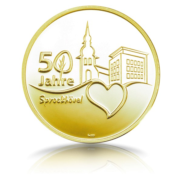 50 Jahre Sprockhövel Gedenkprägung - Feingold