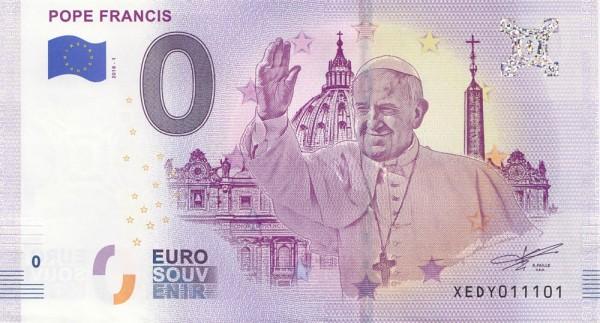 0 Euro Schein Papst Franziskus