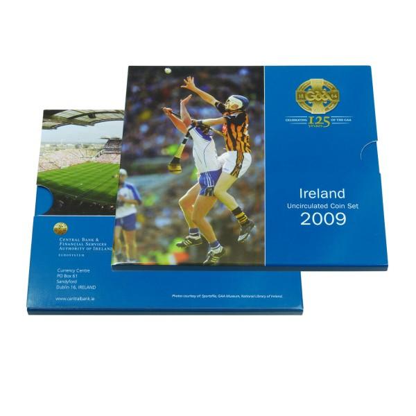 Kursmünzen Irland 2009 Vorderseite Folder