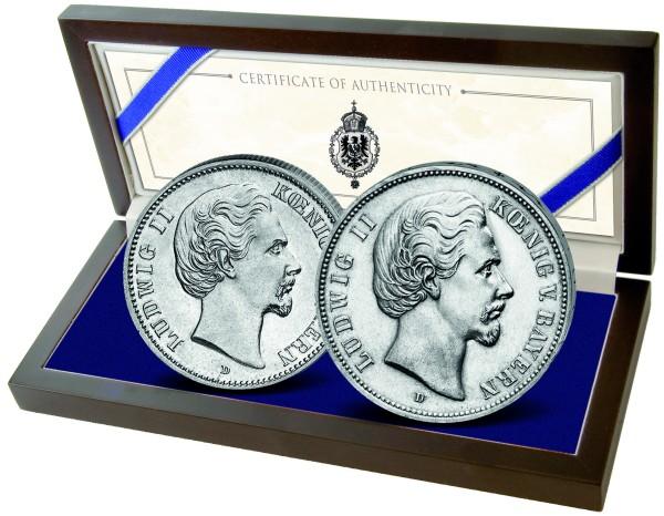 Historische Silbermünzen zum 175. Geburtstag von König Ludwig II.