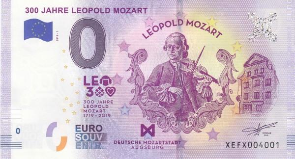 0 Euro Schein 300 Jahre Leopold Mozart
