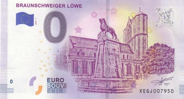 0 Euro Schein Braunschweiger Löwe