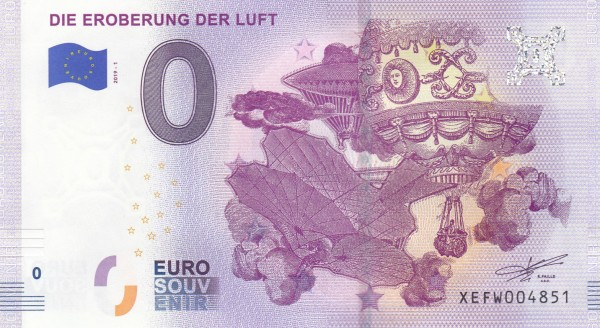 0 Euro Schein Eroberung der Luft