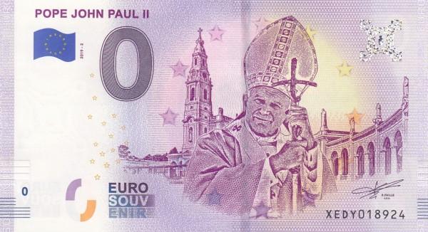 0 Euro Schein Papst Johannes Paul II.