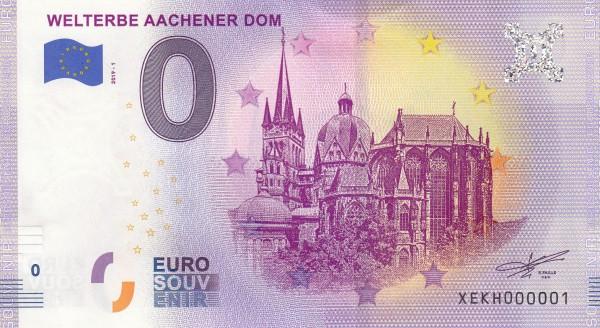 0 Euro Schein Aachener Dom