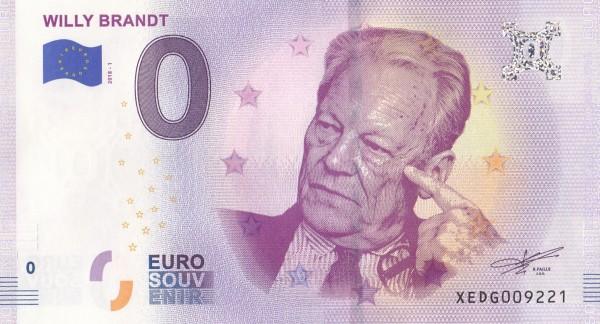 0 Euro Schein Willy Brandt