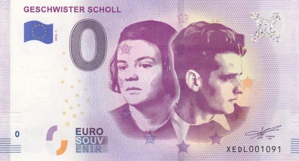 0 Euro Schein Geschwister Scholl