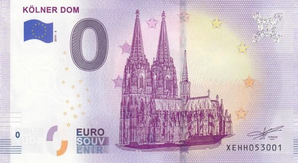 0 Euro Schein Kölner Dom