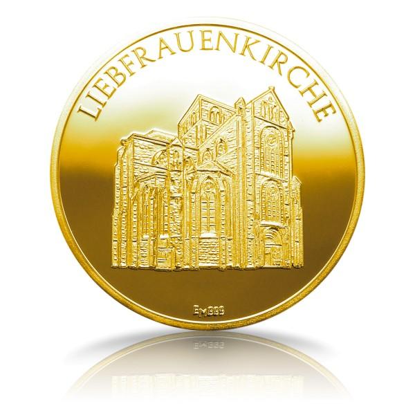 Liebfrauenkirche Trier Sammeledition Sonderprägung Feingold